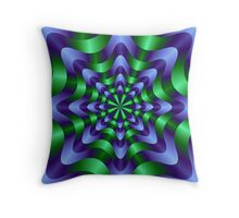 Blue and Green Swirl Throw Pillow