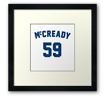 Mike McCready Framed Print