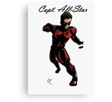 Capt. All-Star Action Pose Canvas Print
