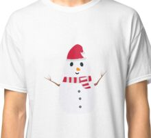 Chirstmas Snowman with winterscarf Classic T-Shirt