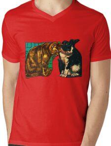 Hungry Cateyes Mens V-Neck T-Shirt