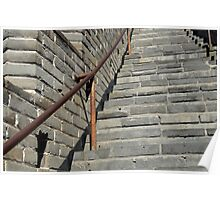 Great Wall Steps Poster