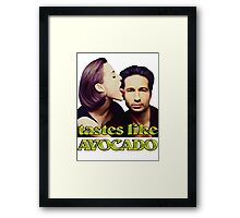 David tastes like avocado Framed Print
