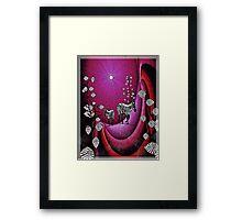 Zebra Lair Framed Print