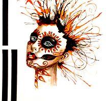 Marigold sugar skull by SolitaireArt