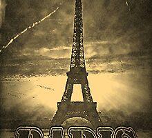 Vintage Paris Eiffel Tower by Nhan Ngo