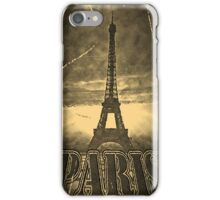 Vintage Paris Eiffel Tower iPhone Case/Skin