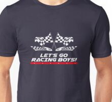 Let's Go Racing Boys Checkered Flag  Unisex T-Shirt