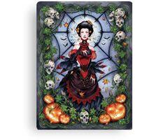 The Black Widow's Garden Canvas Print