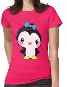 Girl Penguin Womens Fitted T-Shirt