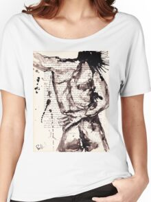 ink on paper, very old paper Women's Relaxed Fit T-Shirt