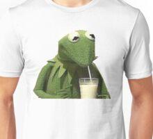 Kermit Drinks Milk Unisex T-Shirt