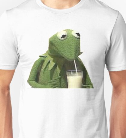 Kermit Drinks Milk Unisex T-Shirt