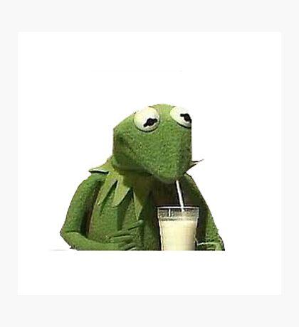 Kermit Drinks Milk Photographic Print