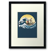 Going Merry by Hokusai Framed Print