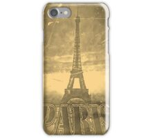Vintage Paris Eiffel Tower #3 iPhone Case/Skin