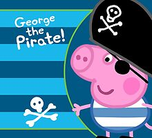 George the Pirate Throw Pillow by Russ Jericho