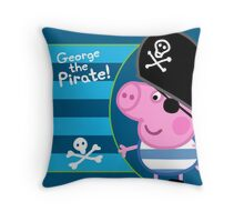 George the Pirate Throw Pillow Throw Pillow