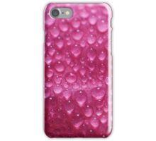morning dew on pink flower petal iPhone Case/Skin