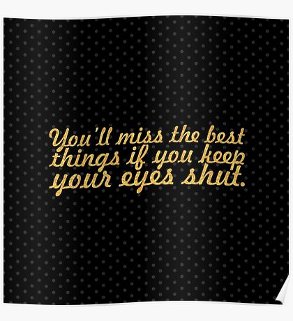 """You'll miss the... """"Dr. seuss"""" Inspirational Quote Poster"""