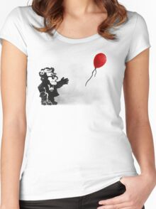 banksy UP Women's Fitted Scoop T-Shirt