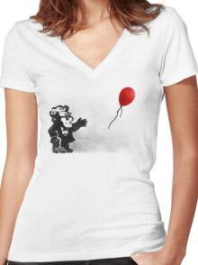 banksy UP Women's Fitted V-Neck T-Shirt