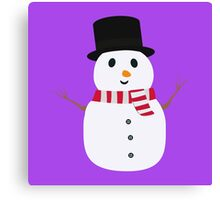 Happy Snowman with winterscarf Canvas Print