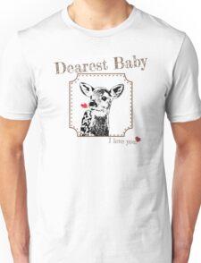 Deer Baby Daughter - I love my dear family Unisex T-Shirt