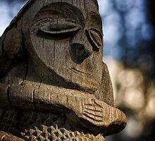 Wooden Sculpture in the Sculpture Garden in Canberra/ACT/Australia (2) by Wolf Sverak