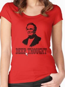 Deep Thought Women's Fitted Scoop T-Shirt