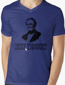 Deep Thought Mens V-Neck T-Shirt
