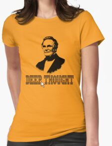 Deep Thought Womens Fitted T-Shirt