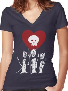 flat alkaline trio Women's Fitted V-Neck T-Shirt