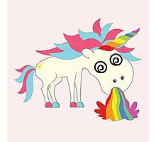 Unicorn - Puking Happiness Photographic Print