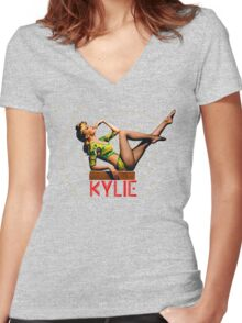 KYLIE MINOGUE - Chillin' Women's Fitted V-Neck T-Shirt
