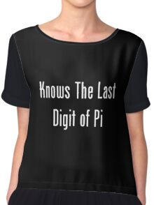 Knows The Last Digit of Pi Chiffon Top