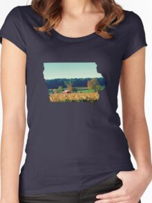 Iowa Countryside Women's Fitted Scoop T-Shirt