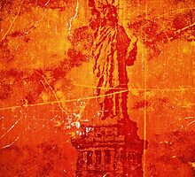 Vintage Statue Of Liberty by Nhan Ngo
