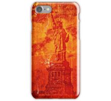 Vintage Statue Of Liberty iPhone Case/Skin