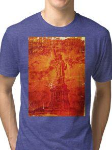 Vintage Statue Of Liberty Tri-blend T-Shirt