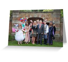 Sleeping Beauty cast with the Mayor and Deputy Mayor of Bromley Greeting Card
