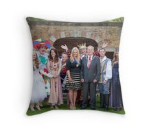 Sleeping Beauty cast with the Mayor and Deputy Mayor of Bromley Throw Pillow