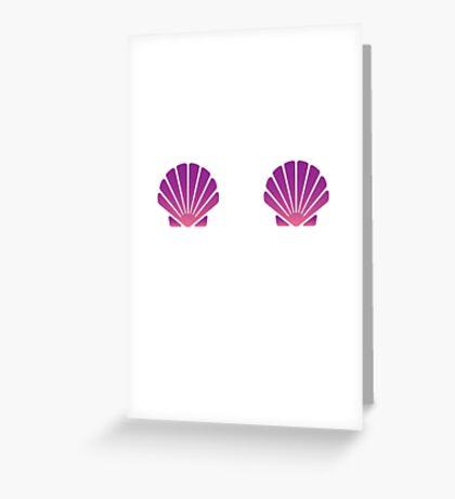 Shell Bra Greeting Card