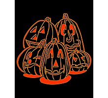 Jack o Lanterns Photographic Print