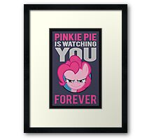 Pinkie Pie is Watching You Forever Framed Print