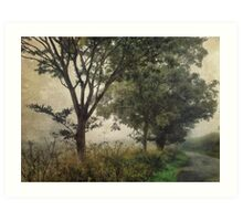 Walking to Hellington Hill Art Print