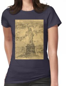 Vintage Statue Of Liberty #2 Womens Fitted T-Shirt