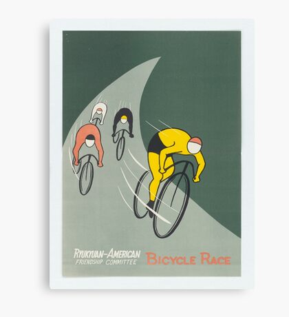 Vintage poster - Bicycle Race Canvas Print