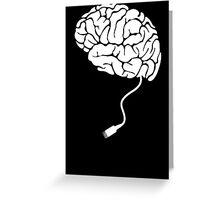 USB Brain Unplugged T Shirt Greeting Card