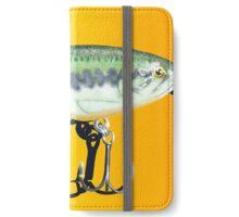 Fishing Lure (Landscape Orientation) iPhone Wallet/Case/Skin